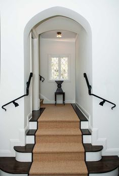 """A dose of interior design inspiration: We've all heard the saying """"less is more."""" This stairway is a perfect example of how true that phrase can be. It has several key elements of style: CONTRASTb..."""