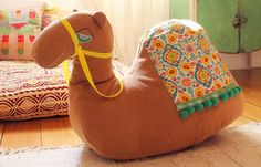 Eulalie's Playfully Bohemian Nursery Camel rocker, this is so cool! I am SO getting this for my future kids! Little Ones, Little Girls, Blog Bebe, Bohemian Nursery, Diy Rangement, My Bebe, Deco Originale, Room Tour, Baby Love