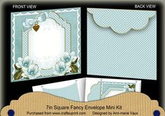 DTeal Magnolia Fancy 7x7inch Easy Envelope Mini Kit on Craftsuprint - Add To Basket!