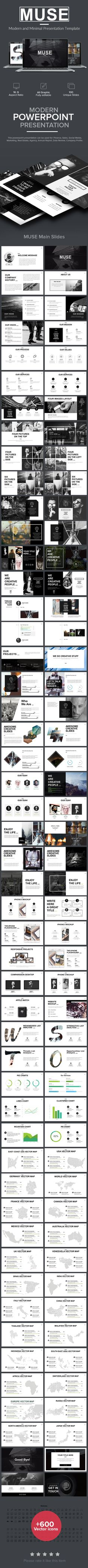 Muse Minimal Presentation Template #minimal #mockup #modern • Available here → http://graphicriver.net/item/muse-minimal-presentation-template/15804016?ref=pxcr
