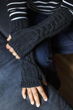 Au Clair Fingerless Gloves Pattern on Craftsy. Knit fingerless gloves.