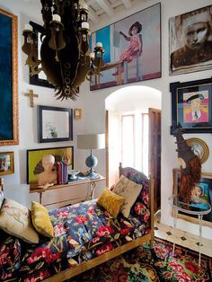 Corner of the living room Gaspar Sobrino designer, Andalucia, Spain.