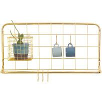 Buy Open Grid Kitchen Rack - Copper from our Wall Organisers range at Red Candy, home of quirky decor. Wire Kitchen Rack, Copper Kitchen, Kitchen Shelves, Kitchen Storage, Kitchen Dining, Kitchen 2016, Quirky Kitchen, Kitchen Display, Door Shelves