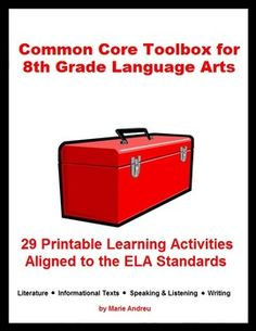 A Common Core lifesaver - 29 printables aligned to the CCSS. Resources can be used multiple times throughout the year with any 8th grade ELA curriculum to address most of the standards. $5.99