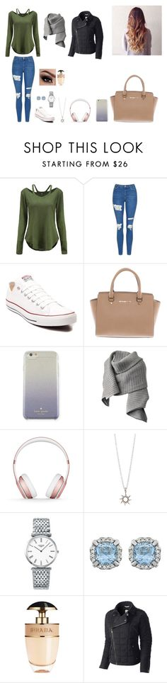 """""""Untitled #50"""" by martaalmeida-i on Polyvore featuring Topshop, Converse, Michael Kors, Kate Spade, Acne Studios, Beats by Dr. Dre, Longines, Prada and SOREL"""
