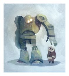 The robot in the snow by `Duffzilla