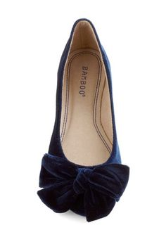 Point Your Bows Flat in Sapphire, #ModCloth