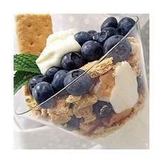 Lemon Blueberry Yogurt Parfait, quick, easy, and tasty dessert!