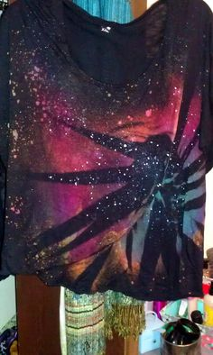 Hand-dyed/painted Galaxy t-shirts @ shealeigh.etsy.com