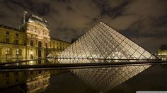 """""""Louvre Classique Wide-angle view of le Louvre court with Pyramide - Paris -France """" France Wallpaper, Paris Wallpaper, Paris Travel, France Travel, Paris France, France City, Paris Monuments, Places To Travel, Places To See"""
