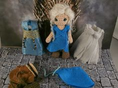 Daenerys Targaryen, Mother of Dragons, Khaleesi, Breaker of chains, Mysha.  Game of thrones amigurumi Moñacos, cosicas y meriendacenas