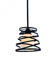 Not like a boring industrial style pendant light which is typical of a bell shape glass shade, this modern style lighting fixture has more to say with the double metal corkscrew pins in bronze painting. /Shop now:  www.parrotuncle.com