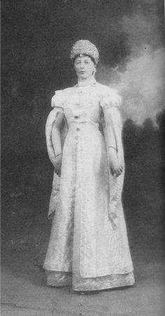 "Duchess Anastasia of Mecklenburg-Schwerin,nee Grand Duchess Anastasia Mikhailovna Romanova of Russia in costume for the Winter Ball in 1903. ""AL"""