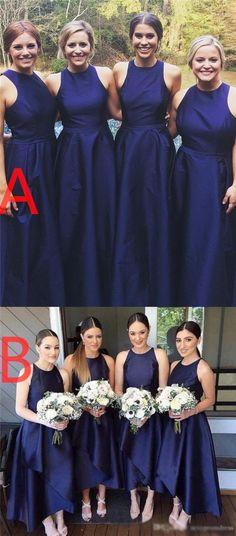 28544f8d66e Royal Blue Simple A-line Fashion Bridesmaid Dresses