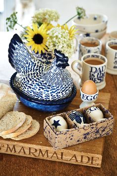 Blue Toast Egg Cup - Set of 3 Egg Cups (Spring 2015 and Summer 2015) Discontinued