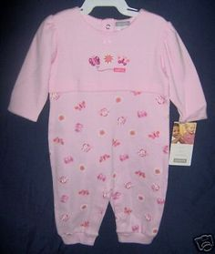 CARTER'S Jumpsuit 6 mos. Pink Long Sleeve 100% Cotton Everyday #Carters #Everyday #OnePieces