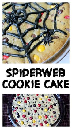 Spiderweb Cookie Cake - Love to be in the Kitchen Make Chocolate Chip Cookies, Cupcake Mold, Cupcakes, Halloween Desserts, Food Themes, Vegan Cake, Yummy Food, Delicious Recipes, Fall Recipes