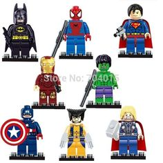 The Avengers Marvel DC Super Heroes Series 8 Pcs Set Action Mini figures Building Block Toys New Kids Gift Compatible With Lego