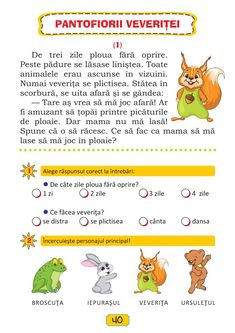 Clasa Pregătitoare : Lecturi de vacanţă clasa pregătitoare Preschool At Home, Preschool Activities, School Humor, Stories For Kids, Kids Education, Kids Learning, Montessori, Teaching, Children