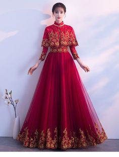 New ideas dress wedding red bridal Red Wedding Dresses, Prom Dresses, Formal Dresses, Hijab Fashion, Fashion Dresses, Fantasy Gowns, Fairy Dress, Mode Hijab, Looks Style