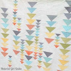 Heading South - Issue 13 Love Patchwork & Quilting by Amanda Castor of Material Girl Quilts flying geese quilt