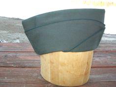 US Army Garrison Tropical Cap - WWII - Vintage Military Hat - Size 7 1/8, Original, Sam Bonk Uniform Cap Co Inc by LucysLuckyDeals on Etsy
