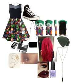 """""""Superhero Day"""" by chloe-775 ❤ liked on Polyvore featuring Converse, Halston Heritage, Free People, Topshop, Waterford, Natalie B and OPI"""