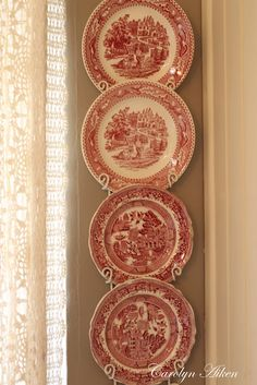 Beautiful...have some of these plates hanging in my dining room.