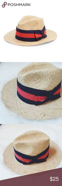 🖤 S A L E 🖤 SAKS FIFTH AVENUE Straw Hat Saks Fifth Avenue made in Italy Straw hat, 100% natural straw, do not wash, do not dry clean, do not bleach, do not iron. Band/bow is navy/red. Brand new without tags, never wore it.                            💖FINAL PRICE💖                 🍭10% off 2 items or more!🍭                             •NO TRADING                             •smoke free Saks Fifth Avenue Accessories Hats