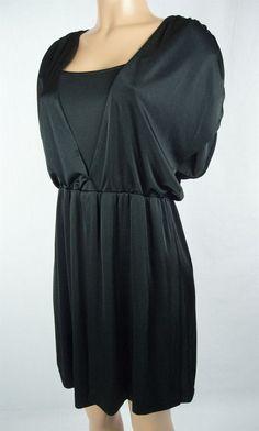 HALSTON HERITAGE Dress Size 4 S Black Keyhole Back Evening Cocktail #HalstonHeritage #Cocktail