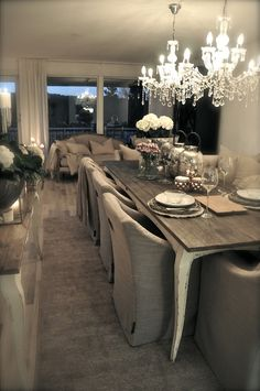 This is exactly what I want for dining room..soo country-chic-romantic