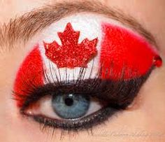 canada day makeup - Google Search
