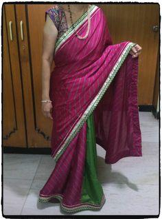 Pink Peheriya Saree