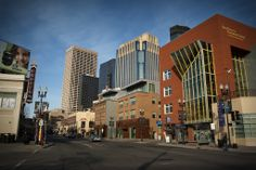 InterDistrict Downtown School and the Orphum Theater on Hennepin Ave in downtown Minneapolis.