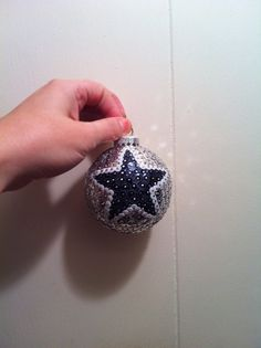 This is a handmade sequins Christmas ornament. Show your Dallas Cowboy pride or give it as a gift for the cowboy fanatic in your life.