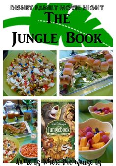 Before the live action version of The Jungle Book hits the big screen, we're taking a look back at the animated classic. All you need are the bare necessities and you're ready for a fun Disney Family Movie Night. Movie Night For Kids, Movie Night Snacks, Dinner And A Movie, Night Food, Family Movie Night, Game Night, Movie Night Basket, Disney Themed Food, Disney Inspired Food
