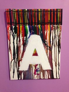 Ashley's melted crayon art