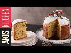 Greek style Panettone by Greek chef Akis Petretzikis. The Greek version of the Italian Panettone with the rich aromas of mastic, mahlab, cardamom and raisins! Greek Sweets, Greek Desserts, Greek Recipes, No Bake Desserts, Sweets Recipes, Raw Food Recipes, Cake Recipes, Christmas Dishes, Christmas Baking