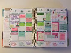 Eine Doppel-Wochenseite aus November 2014. my @ErinCondren Erin Condren Life Planner
