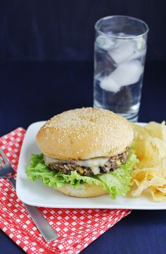 Best ever black bean burger (click through for recipe)