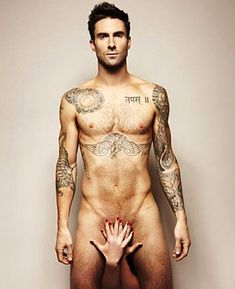 Proof that there is a God!  I love looking at this man.  Pinned from http://www.usmagazine.com/celebrity-body/news/maroon-5s-adam-levine-poses-nude-for-prostate-cancer-awareness-201161