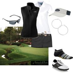 Summer Golf Uniform, created by mmain1955 on Polyvore