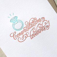 Congratulations Lovebirds Letterpress (We Heart Paper)