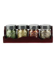 Love this Mason Jar Spice Rack & Jar Set on #zulily! #zulilyfinds