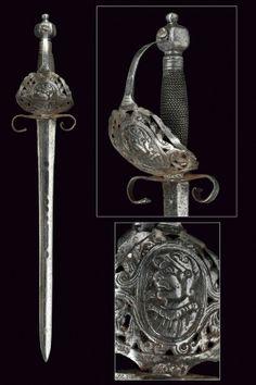 A pierced rapier. provenance: Italy dating: circa 1600 | Rapier sword