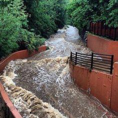 Boulder, Colorado - Boulder creek during the 2013 flooding