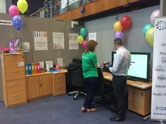 Our colouful stand demonstrating the Clevertouch interactive screen.