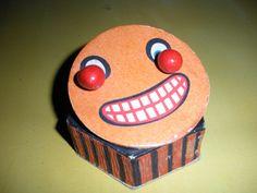 Vintage Halloween Toy ~ Very Old German Googly Eyed Jack O' Lantern Squeeker Toy