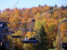 Love fall chairlift rides at ski resorts like @sundayriver  @sugarloafmaine & @okemo  http://familyskitrips.com/family-ski-vacations/columbus-weekend-in-ski-country-beer-ski-gear-wife-carrying/