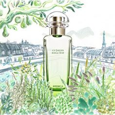 My other scent: Un Jardin sur le Toit. Based on the scent of the hanging garden on the rooftop of the Hermes store in Paris. The scent of this perfume is wonderful! Beauty Zone, Beauty Skin, Le Nil, Paris 3, Rooftop Garden, Shiseido, Your Skin, Beauty Hacks, Beauty Tips